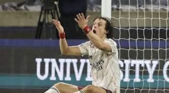David Luiz was sent off against Wolves