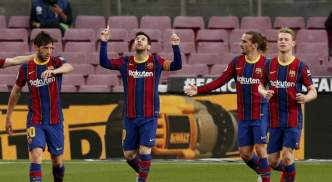 Lionel Messi opened the scoring but Barca were stunned