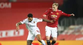Donny van de Beek in action against Watford